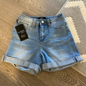 NVGTN Light Wash Jean Shorts